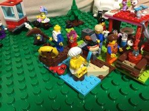 レゴ 川で行水