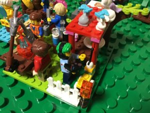 レゴ ラジコンで遊ぶ子供