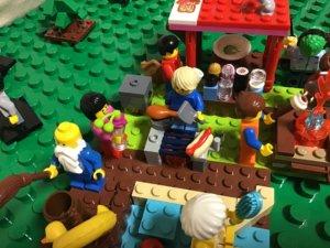 レゴ 外のBBQコンロ 写真