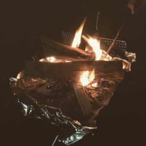 いわみざわ公園キャンプ場 焚き火