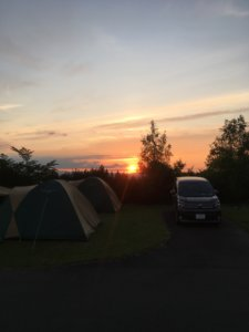 まあぶオートキャンプ 夕陽