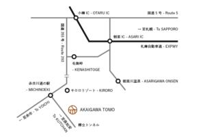 赤井川キャンプ場 地図