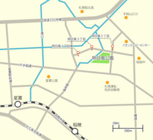 明日風公園 地図