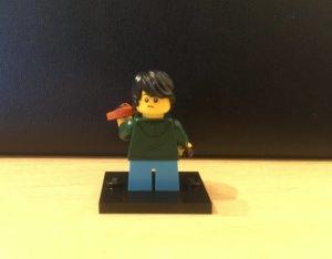 レゴ バイオリン少年 後ろ姿