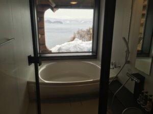きつつきカナディアンクラブ お風呂窓からの景色