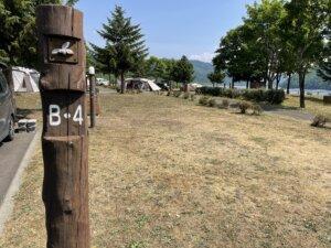 滝里湖オートキャンプ場 サイト状況