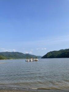 滝里湖オートキャンプ場 湖
