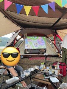 滝里湖オートキャンプ場 プロジェクター